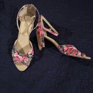 Seychelles Floral Ankle Strap Heels 🌸💜